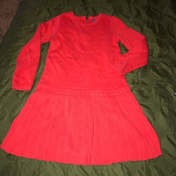 GAP Other - Gap 5 years knit dress red pleated beautiful